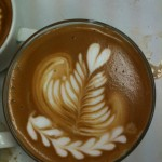 heart rosetta and tulip in one cup